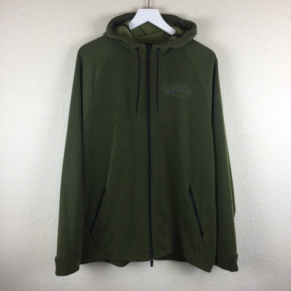 Nike Other - Nike Green Dri-Fit Zip Up Hoodie